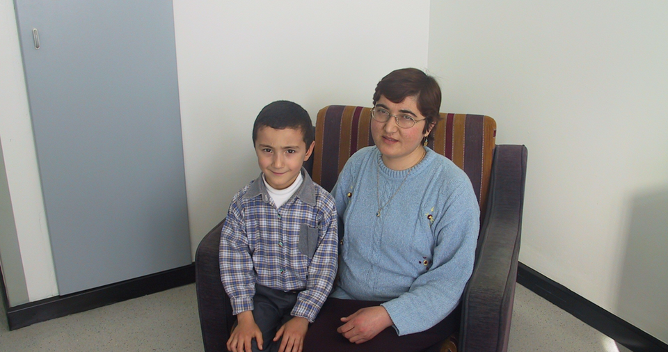 Fatma Akin was Yaman Tokat's first liver transplant patient, who was also Turkey's first long term transplant survivor. She became pregnant three months after the operation in 1994. She had a healthy boy named after Tokat's first name, Yaman. The picture was taken in 2004.
