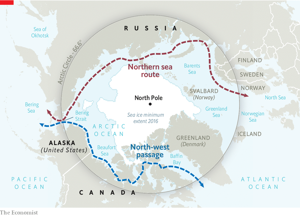 The Arctic sea routes would be a shortcut for ships traveling from North America and Europe to Asia. For hundreds of years, the treacherous tundra prevented the possibility of such a passage.