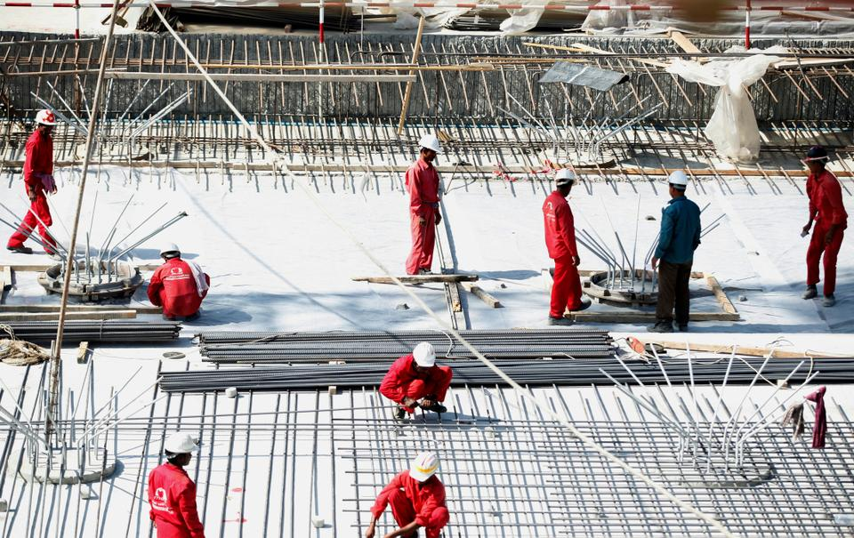 Migrant labourers work in Dubai, United Arab Emirates. Saud Arabia and the UAE are believed to host around 2.5 million and 1.5 million Pakistanis, respectively.